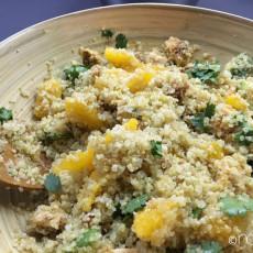 quinoa salat mit zitrus-hühnchen