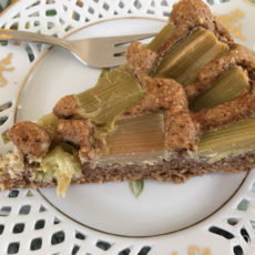 Rhabarberkuchen glutenfrei mit Nussteig