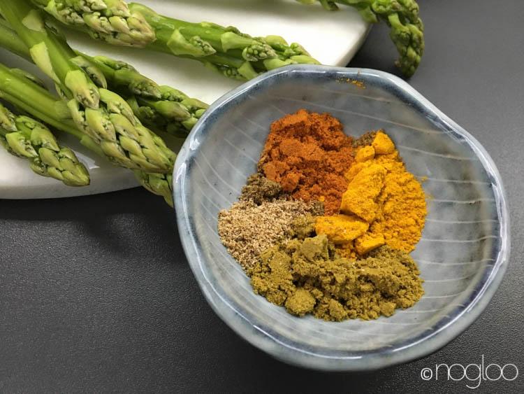curry mit spargel