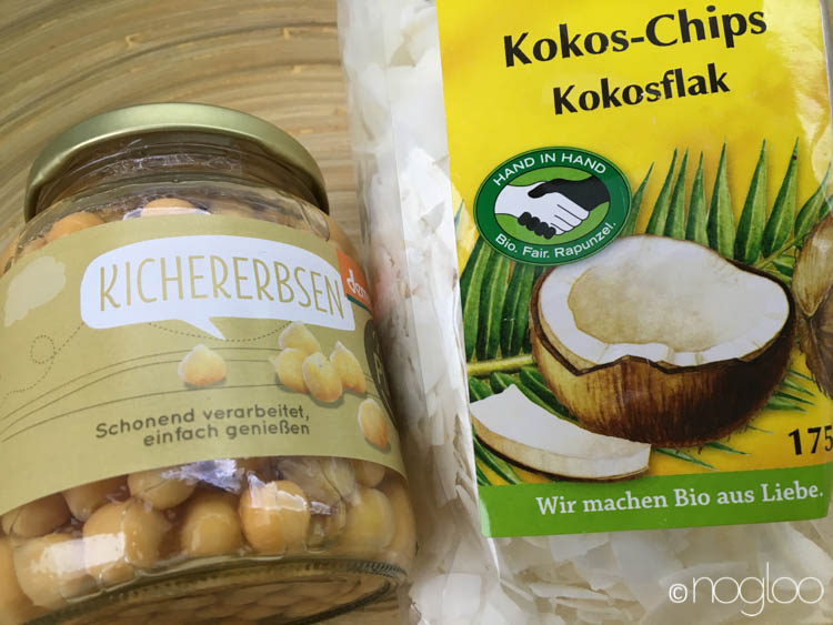 kichererbsen kokosnuss chips