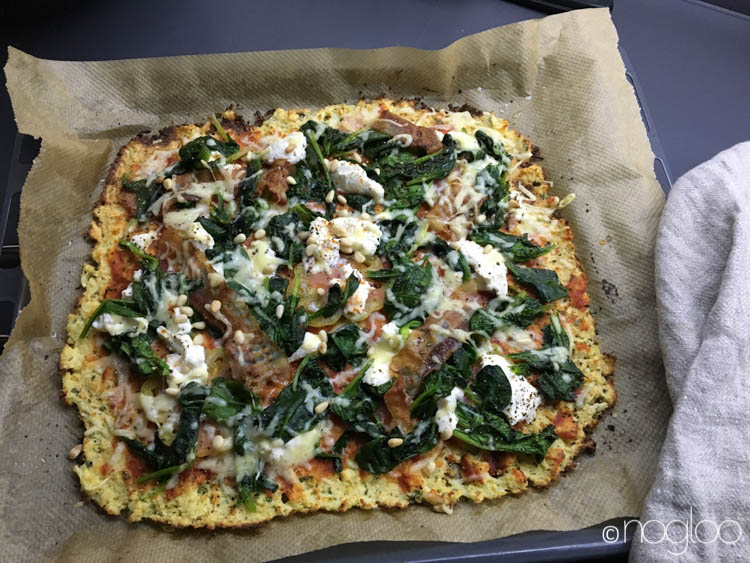 Glutenfreie Pizza aus Blumenkohl