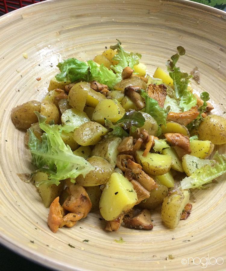 Salat Pfifferlinge mit Kartoffeln