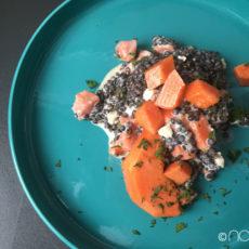 belugalinsensalat mit papaya