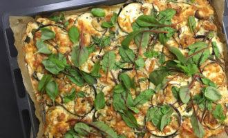 Glutenfreie Pizza mit Aubergine